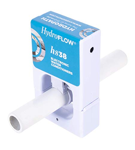 HydroFLOW HS38 | Alternative to a Water Softener | Decreases The Risk of a waterborne pathogenic Contamination | Descaler for Small Homes, RVs & Tankless Water Heaters | Fits Pipes Up to 1' OD