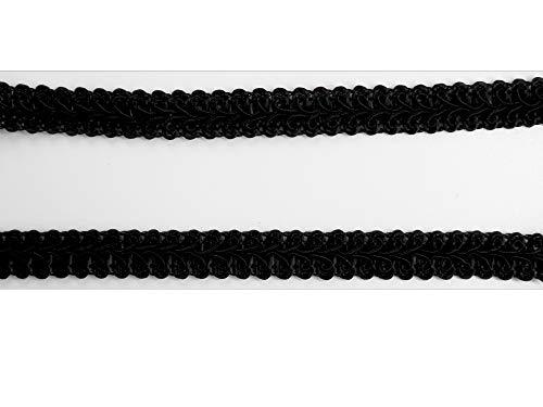 Borte-mit-Stil 2 m Posamentenborte (1,67€/m) Tracht 7mm breit Farbe: schwarz