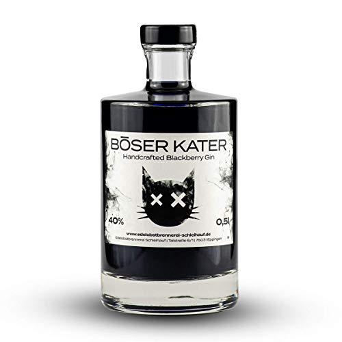 Böser Kater Blackberry Gin | Handgemacht mit Brombeer-Geschmack | Small Batch | 0,5l - 40% vol.