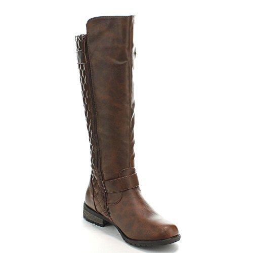 Forever Link Mango-21 Lady Boot, Brown, Size 9.0