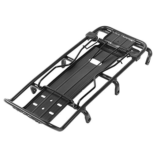 25 kg de capacidad de carga de aleación de aluminio negro universal para bicicleta
