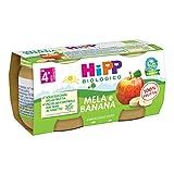 HiPP Omogeneizzato Biologico di Mela e Banana dai 4+ Mesi, 2 x 80g
