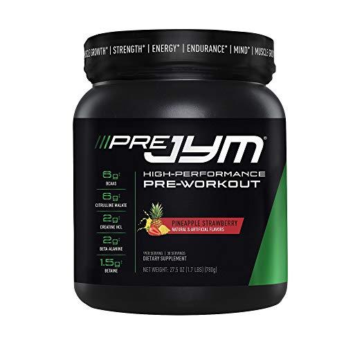 JYM Supplement Science Pre Jym Pineapple Strawberry, 30 Servings, Pineapple Strawberry, 30 Count (PRE30PS300)