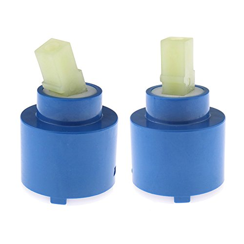 2 x Keramik-Kartusche, 35 mm, Scheibe für Badezimmer, Dusche, Hebel, Badezimmer, Küche, Reparatur, Ersatz-Werkzeuge