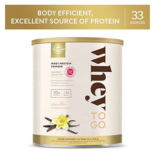 Solgar - Whey To Go Protein Powder, Natural Vanilla Flavor, 33 Oz.