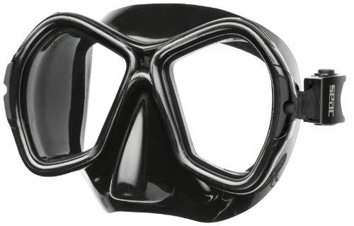 Maschera SEAC Sub Angel, vetri ottici Possibile, Nero