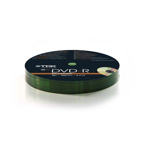 Pack de DVD-R TDK T78650 (10 unidades)