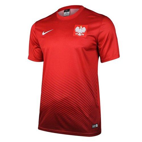 Nike Kinder POL YTH HM Supporters Tee Euro 2016 Poland Trikot, Rot/Weiß, S