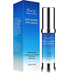 BreoLife Eye Cream Retinol Anti-Aging, Visibly Reduces Wrinkles, Crow's feet, Puffiness, Under & Around Eye and Dark Circles