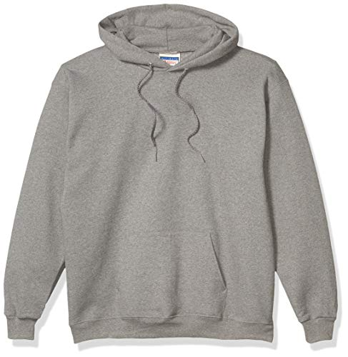 Hanes Men's Pullover Ultimate Heavyweight Fleece Hoodie, Oxford Gray, Small