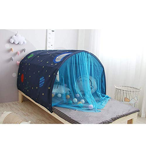 YXYOL Children's Bed Tent Kids,Magic Game House Baby Boy Girl Safe Tunnel Wigwam Bedroom Festival Decoration,Indoor Tent Game House,Boy Girl Crawling Through Tunnel,Blue