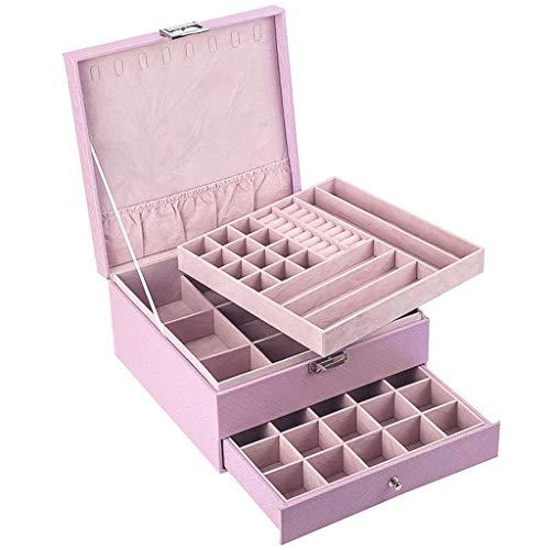LIMUZI Medium juwelenkistje Organizer 3-Layer for Kettingen Oorbellen Ringen Opslag Houder - Verpakking van de Gift for Dames Meisjes