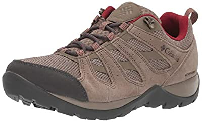 Columbia Women's Redmond V2 Waterproof Hiking Shoe, Pebble, Beet, 10.5 Regular US