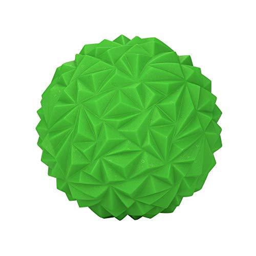 Tomantery Media Bola de Yoga Engrosada Antideslizante para Yoga para Ejercicio de Pilates para Gimnasio y Fitness(Black, Green)