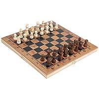 ドラフトボードセット、ユニークなデザインの3 in 1チェスセット、木製チェスセット、折りたたみ式チェスボード、子供大人向けの3イン1デザイン