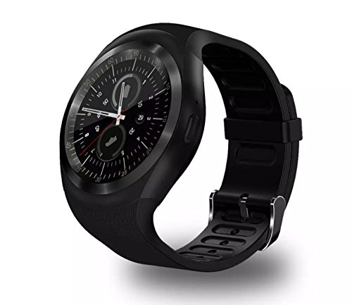Y1 Smart Watch touch Android Phone Mate SIM Card Round Screen Bluetooth GSM 32 m + 32 M monitoraggio sonno schermo capacitivo