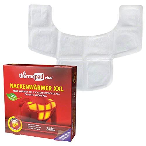 THERMOPAD NACKENWÄRMER XXL – DAS ORIGINAL: 3x Wärmepads für 8 Stunden Wärme I Sofort einsatzbereite Wärmeauflage mit extra warmen Heatpads – ideales Heizkissen für Nacken, Schulter & Rücken-Bereich