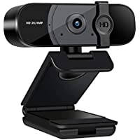 Taotuo 2K HD Webcam with Privacy Cover & Microphone for Desktop