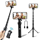 Selfie Stick Tripod, Eocean Portable 45 Inch Aluminum Alloy Selfie Stick, Phone Tripod Stand with Wireless Remote Shutter, Compatible with iPhone 12/11/XR/X/Pro and Android Samsung Smartphone