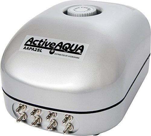 Hydrofarm Active Aqua Air Pump, 8 Outlets, 12W, 25 L/min