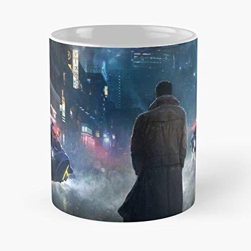 GrimDC Art Blade Runner Taza de café con Leche 11 oz