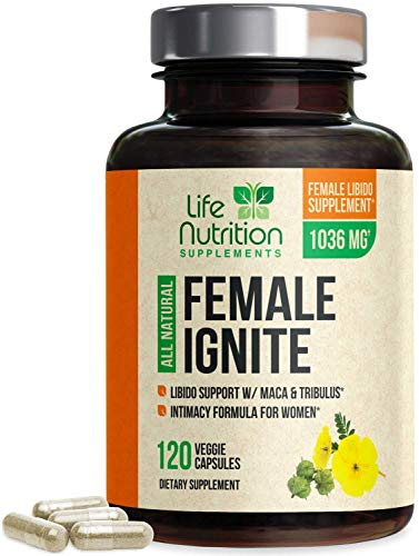 Female Libido Supplement with Maca, Tribulus & Horny Goat Weed 1000mg for Excitement, Desire & Energy Vitamins for Women - B12, Red Panax Ginseng, Dong Quai & Gingko - 120 Capsules