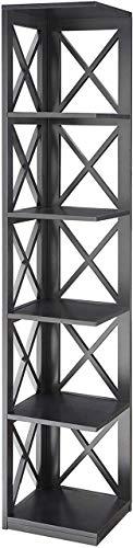 Convenience Concepts Oxford 5 Tier Corner Bookcase, Cherry / Black