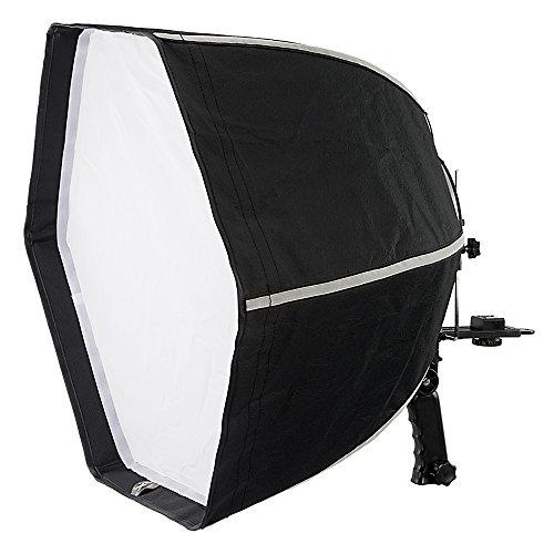 Fotodiox f60 quick-collapse flash softbox - 60cm (24in) hexagon for canon speedlight and nikon, vivitar, sunpack, nissin, sigma, sony, pentax, olympus, panasonic lumix flash