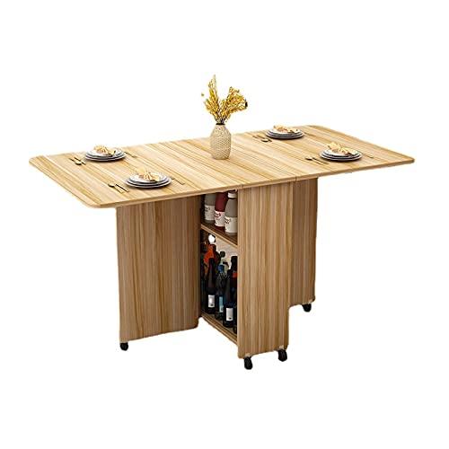 Mesa de comedor plegable moderna simplicidad multifuncional mueble de almacenamiento mesa de cocina muebles de hogar sala de estar mesa extensible (150 x 80 x 77 cm A2)