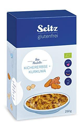 Seitz glutenfrei Bio Kichererbse + Kurkuma Nudeln, 250 g