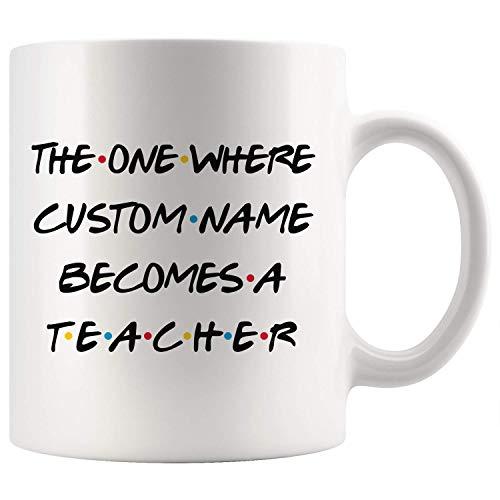 Taza de graduación personalizada para profesor, mejor profesor profesor, agradecimiento para hombres y mujeres, ideas de regalo de trabajo para superprofesores (11 oz)