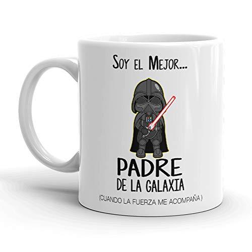 Kembilove Taza de Café para Papá Soy el Mejor Padre de la Galaxia – Taza de Desayuno para Regalar el día del Padre – Tazas de Café para Padres y Abuelos