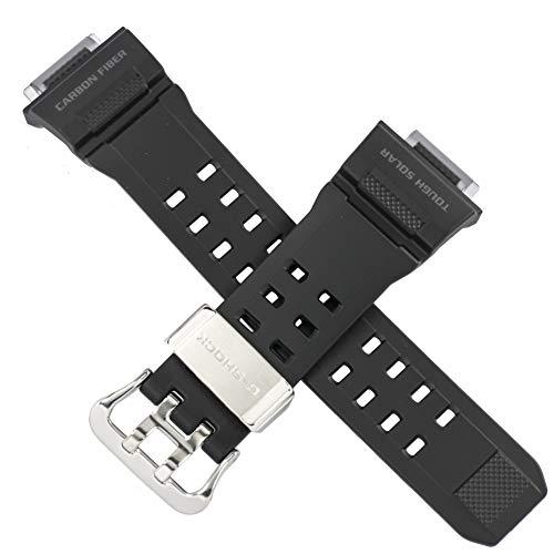 Casio Uhrenarmband für GW-9400J GW 9400J 9400J 9400, Karbonfaser, Schwarz