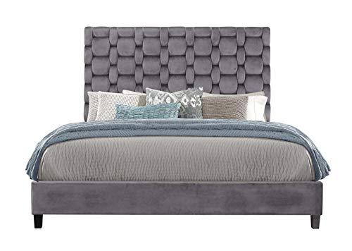 Global Furniture USA 8820-KB Chambered Grey King Bed