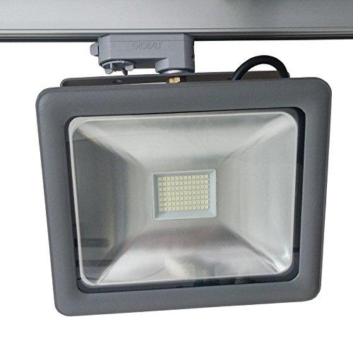Xenterio 3-Phasen LED-Strahler, Alu grau, 20W, 1500lm, 6000K (kaltweiß)