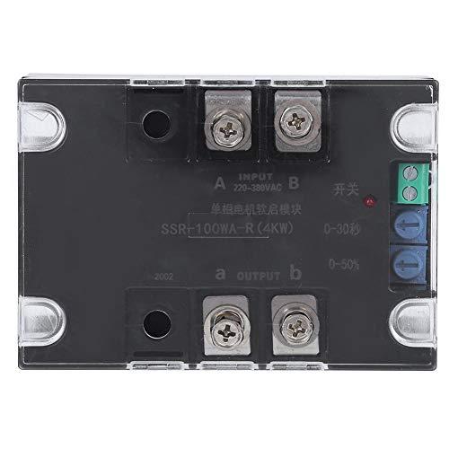 Arrancador suave monofásico/bifásico, placa controladora de arranque suave eléctrico Accesorio de control industrial con fondo de latón para motor(Module)