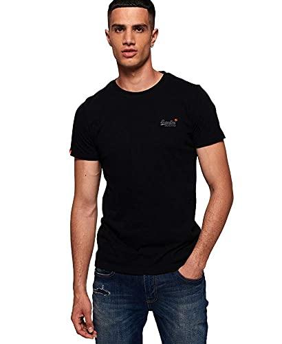 Superdry Orange Label Vntge Emb S/S tee Camiseta, Negro (Black 02A), Large para Hombre