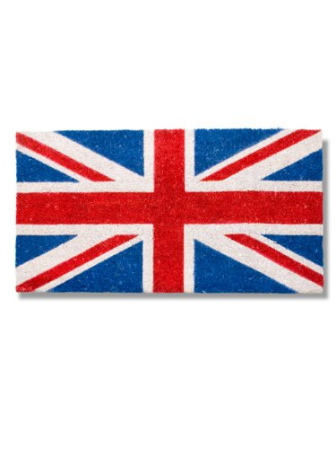 Abbott Coir Fibre Doormat, Union Jack Flag, Natural Material