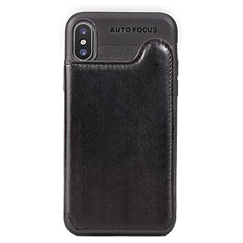 Suhctup Coque Compatible pour Samsung Galaxy S8 Plus [Revêtement Arrière en Rabat Portefeuille ] Cuir PU et Silicone TPU,Etui avec Emplacement de Porte Carte Housse avec Fonction de Support(Noir)