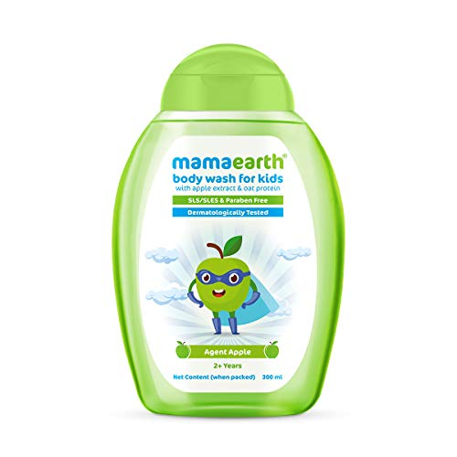 Mamaearth Agent Apple Body Wash for Kids with Apple & Oat Protein – 300 ml