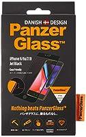 【国内正規品】PanzerGlass(パンザグラス) iPhone 6/6s/7/8 Jet Black/Black 衝撃吸収 全画面保護 ラウンドエッジ ダブル強化ガラス 4層構造 【2618】 2618