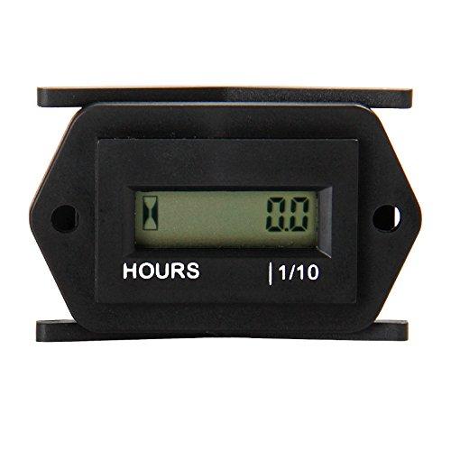 Compteur horaire numérique LCD Runleader, CA 86 à 230V, conception étanche, utilisation pour tondeuse à gazon ZTR, génératrice, chariot de golf, nettoyeur de voiture de club, compresseur de moteur marin pour VTT et autre équipement motorisé (AC86-230V)