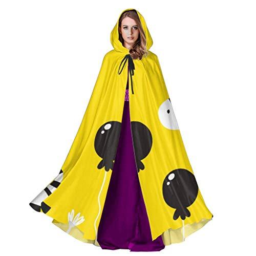 JINCAII Nettes Zebra-Baby-Kunst-lustiges Mädchen-Umhang-Umhang-Umhang-Kleid 59inch für Weihnachten Halloween Cosplay Kostüme