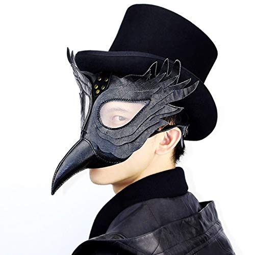 QYLOZ Máscara De Steampunk Doctor De La Peste Medieval Bubonic Plague Disfraz De Halloween Máscaras De Disfraces (Color : B)