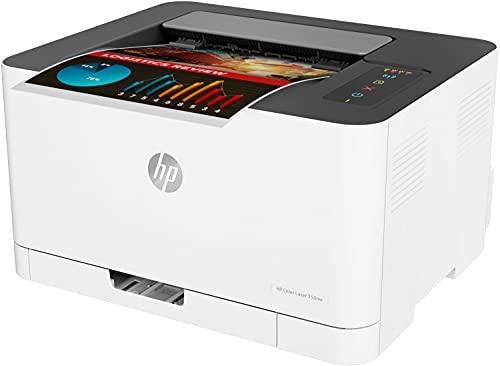 HP Color Laser 150nw 4ZB95A, Impresora Láser Monofunción, Impresión a Doble Cara Manual, Wi-Fi, Ethernet, USB 2.0 alta velocidad, HP Smart App, Panel de Control LED, Blanca