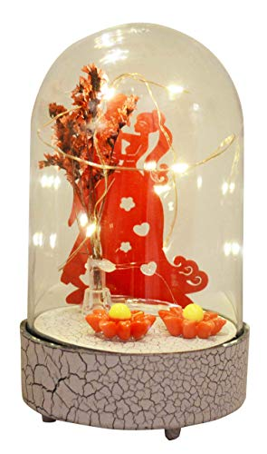 Saubhagya Global Acrylic Valentine Love Couple Musical Lampshade-14cm (3AAA Battery Operated, Not Included) Romantic Gift &...