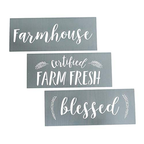 Home Stencils- Make a DIY Sign with a Calligraphy Stencil Set (Farmhouse, 3 Pack)