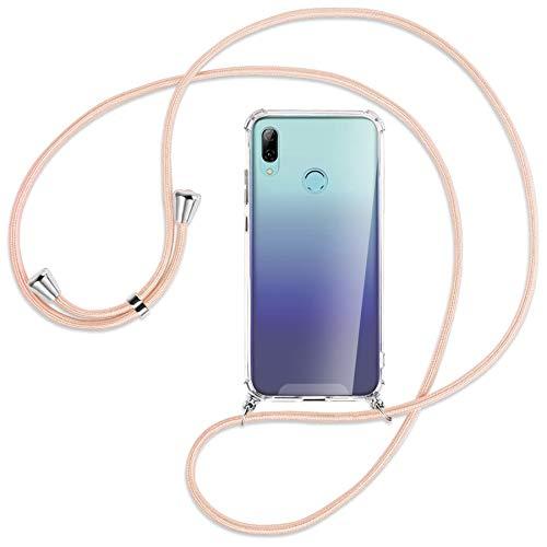 mtb more energy Cadena para teléfono móvil compatible con Huawei P Smart 2019, Honor 10 Lite (6,21 pulgadas) – Rosa Peach – Funda para Smartphone para colgar – Carcasa de TPU resistente a los golpes