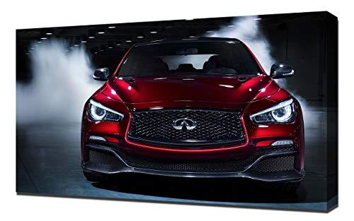 2014-Infiniti-Q50-Eau-Rouge-Concept-V5-1080 - Canvas Art Print - Muur Kunst - Canvas Wrap