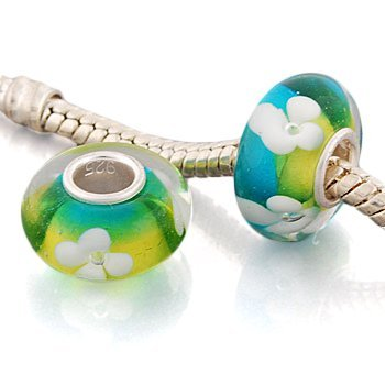 Andante-Stones 925 Sterling Silber Murano Glas Bead Summer Dream Element Kugel für European Beads Modul Armband + Organzasäckchen